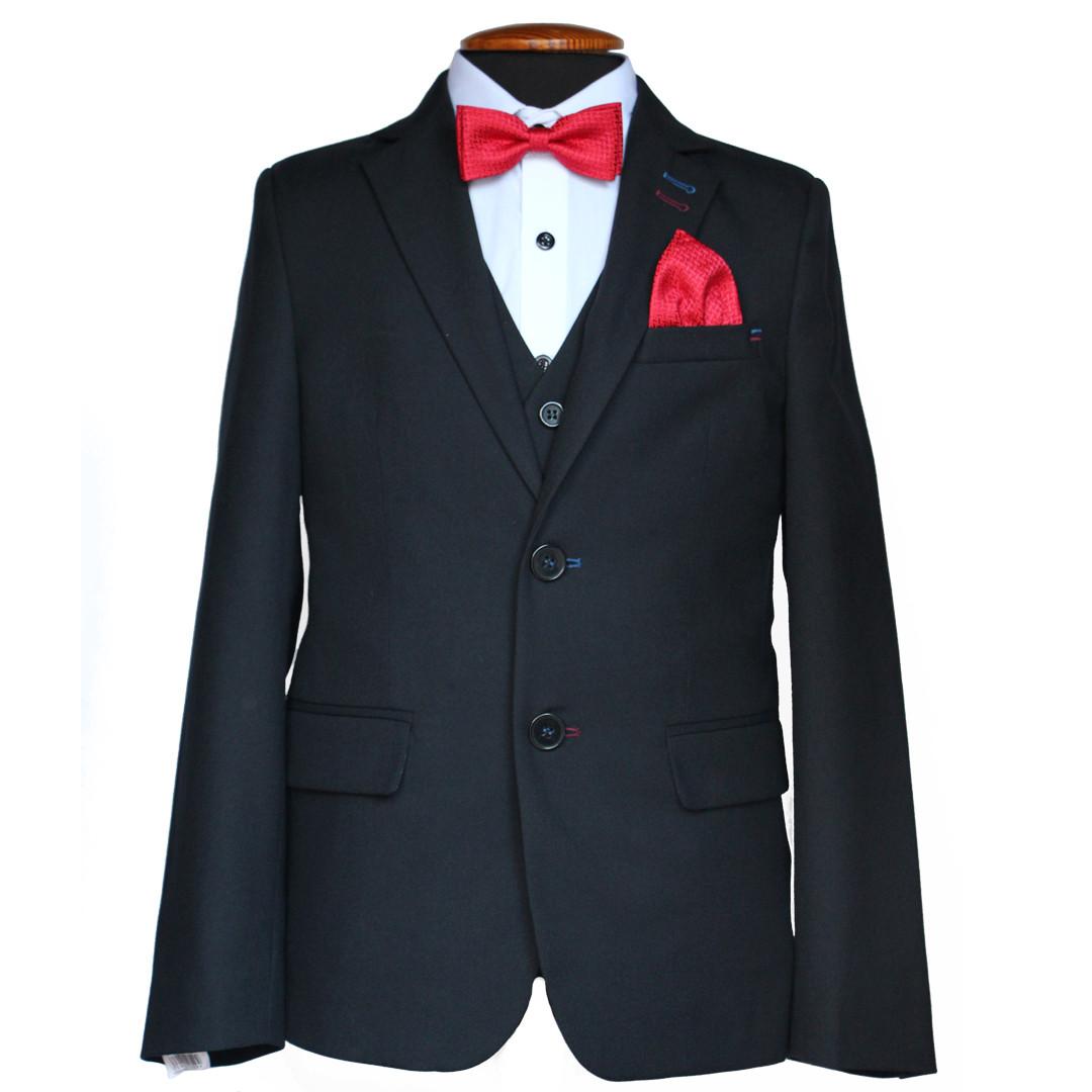 """Шкільний костюм трійка для хлопчика 128 зросту """"Спеціаліст""""  чорний"""