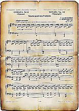 Вафельная картинка Нотный лист