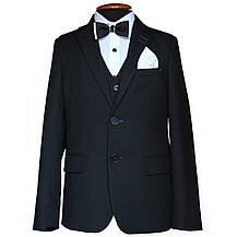 """Шкільний костюм трійка для хлопчика 128 зросту """"Спеціаліст""""  чорний, фото 2"""