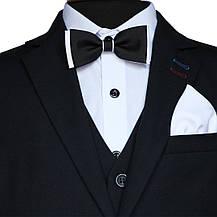"""Шкільний костюм трійка для хлопчика 128 зросту """"Спеціаліст""""  чорний, фото 3"""