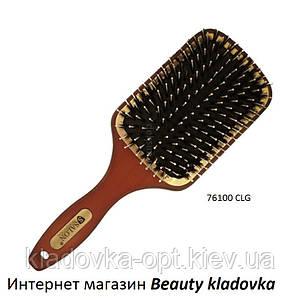 Расчёска массажная Salon Professional 76100 CLG деревянная (зубья пластик + щетина)