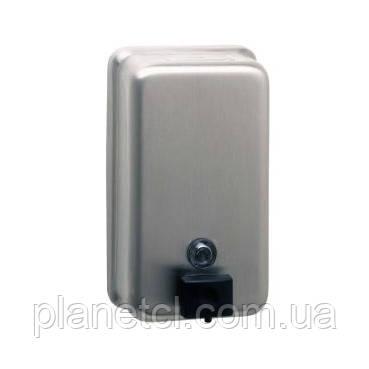 Дозатор мыла вертикальный нерж. сталь сатин - Планета чистоты в Киеве