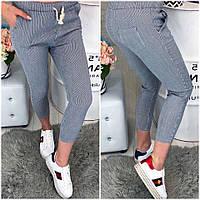 Женские стильные укороченные штаны в полосочку