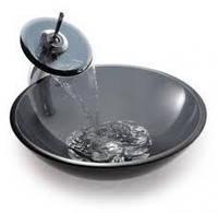 Комплект: умывальник накладной стеклянный HR 3327 + смеситель