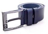 Мужской кожаный ремень Philipp Plein синий, фото 3