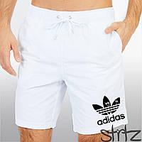 Мужские белые пляжные шорты/плавки для купания адидас (Adidas)