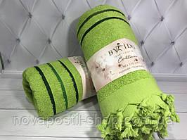 Пляжное махровое полотенце-пештемаль с кисточками By IDO (разные цвета)