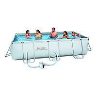 Каркасный бассейн Bestway 56251 (404х201х100) с картриджным фильтром, фото 1