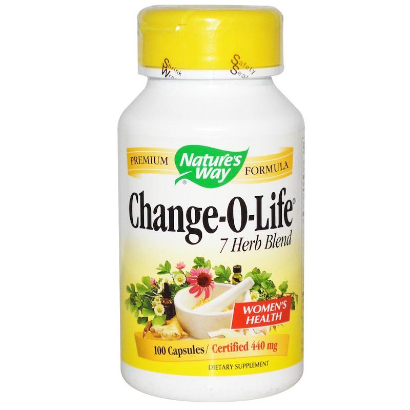 Nature's Way, для женщин «Изменение жизни», 7 трав, 440 мг, 100 капсул