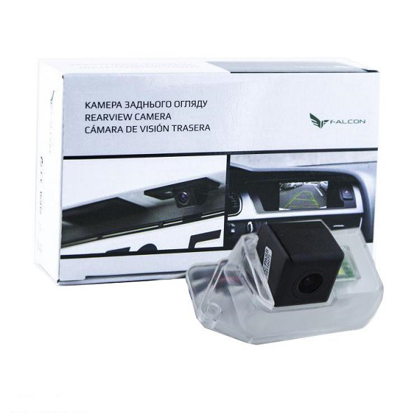 Штатная камера заднего вида Falcon SC27-HCCD. Mitsubishi Lancer X 2007+/Outlander I 2003-2007