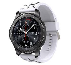Силіконовий ремінець Primo Splint для годин Samsung Gear S3 Classic SM-R770 / Frontier RM-760 - White&Black