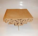 Подставка для торта (сладостей, капкейков) (40х40см.) заготовка для декора, фото 3