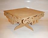 Подставка для торта (сладостей, капкейков) (40х40см.) заготовка для декора, фото 4