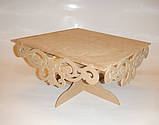 Подставка для торта (сладостей, капкейков) (40х40см.) заготовка для декора, фото 5