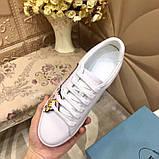 Кожаные кеды, кроссовки Прада Leather Sneakers, фото 5