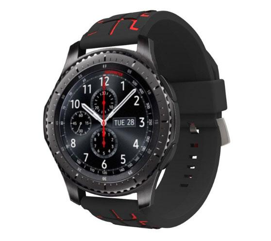 Силиконовый ремешок Primo Splint для часов Samsung Gear S3 Classic SM-R770 / Frontier RM-760 - Black&Red