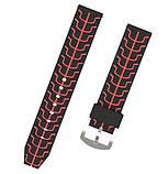 Силиконовый ремешок Primo Splint для часов Samsung Gear S3 Classic SM-R770 / Frontier RM-760 - Black&Red, фото 4