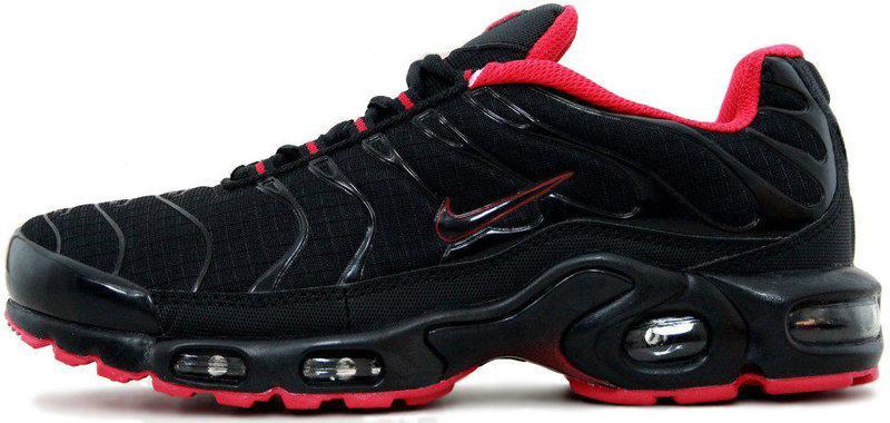 Мужские кроссовки Nike Air Max Tn Plus 'Black/Red' (Найк Аир Макс Тн) черно-красные