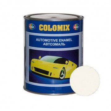 Автокраска 201 Белая COLOMIX алкидная краска 1л