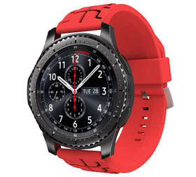 Силіконовий ремінець Primo Splint для годин Samsung Gear S3 Classic SM-R770 / Frontier RM-760 - Red&Black