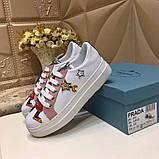 Кожаные кеды, кроссовки Прада Leather Sneakers, фото 2