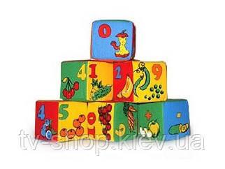 """М'які Кубики """"Цифри"""", 6 шт."""