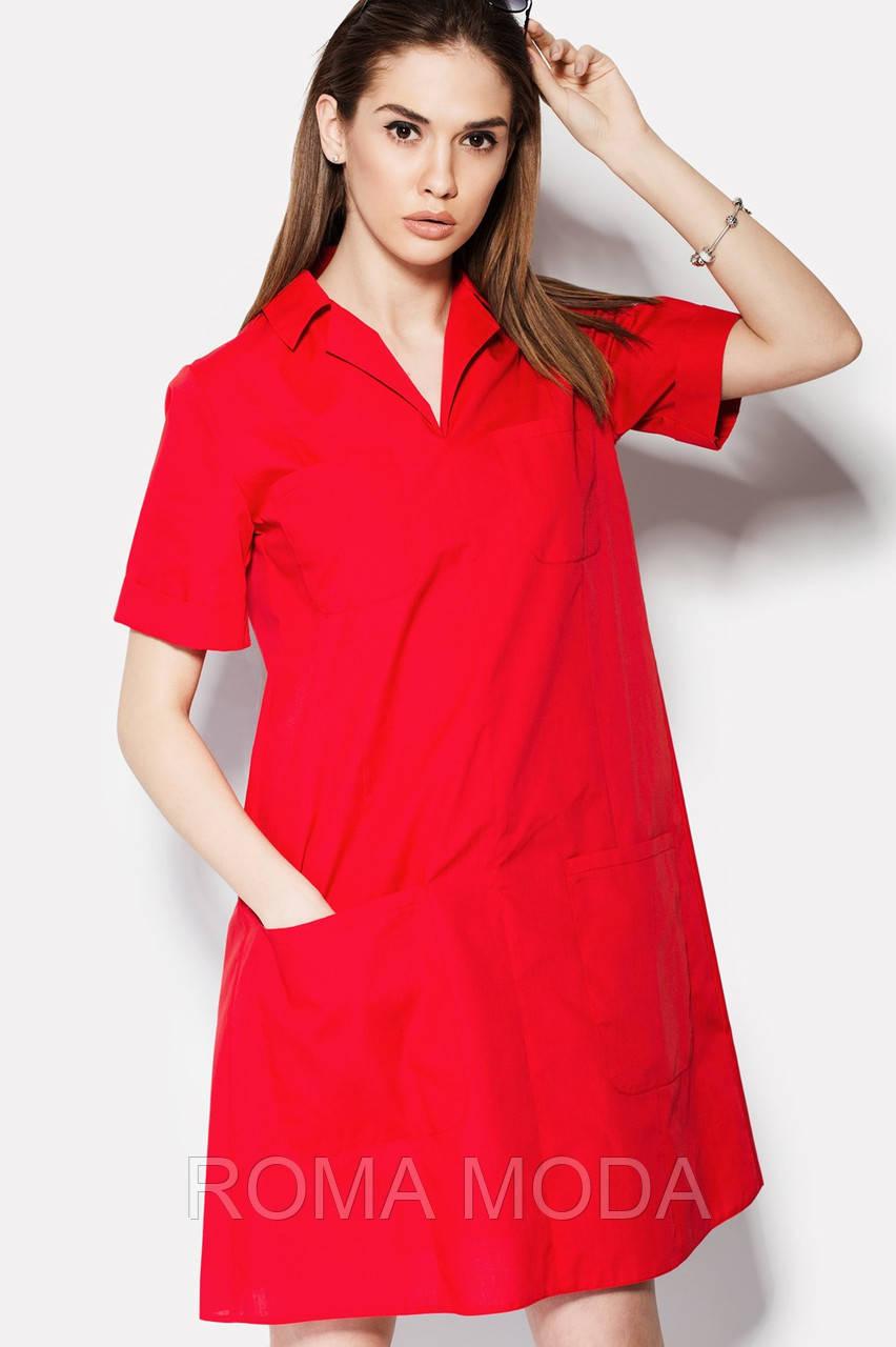 Стильное женское платье свободного кроя SANTE