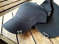 Бейсболка кепка с пирсингом кольцами kentaver цвет синий