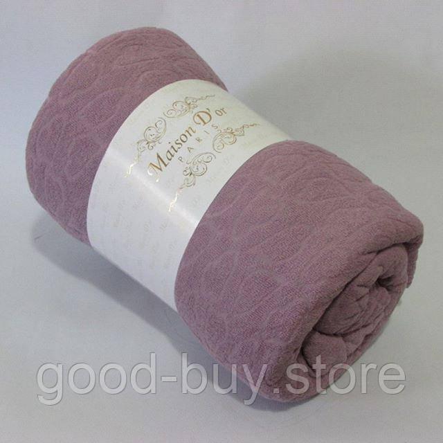 2a91d1d1f2e0 Maison D'or Paris простынь на резинке 220х240см махровая с наволочками  фиолетовая