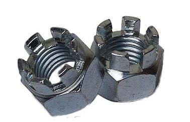 Гайка корончатая М5 ГОСТ 5918-70, DIN 935 из нержавеющей стали А2 и А4