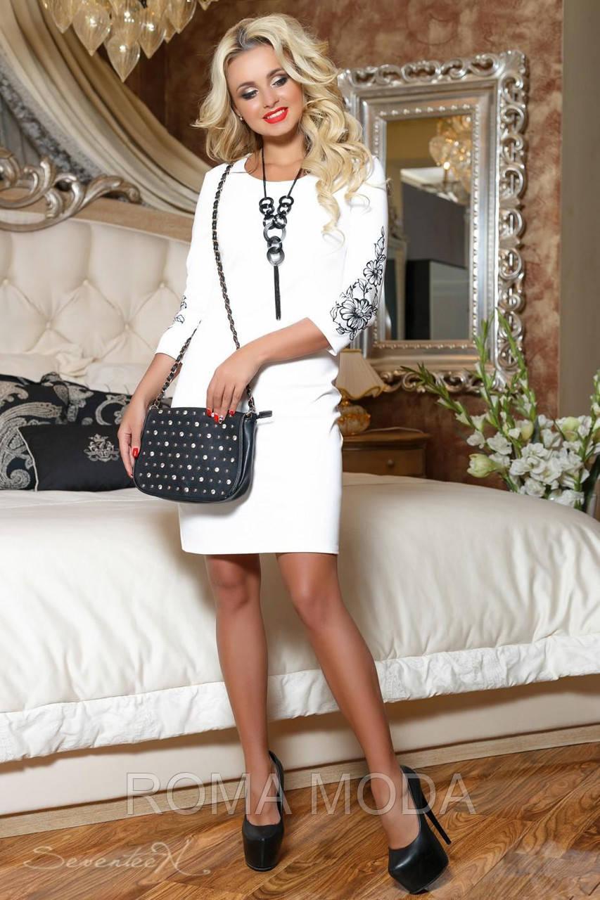 Красивое женское платье белое 2066