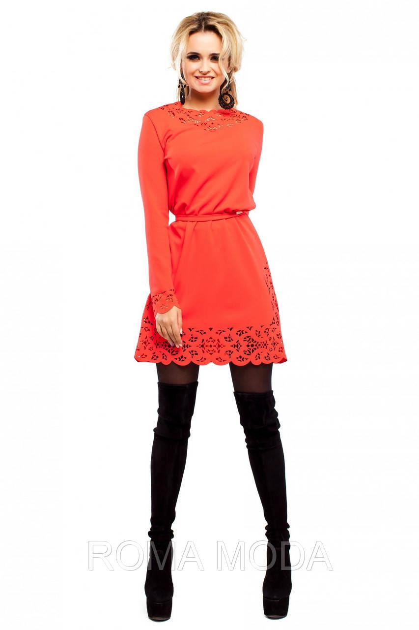 Платье с ажурной перфорацией JD Фарина в 6ти цветах
