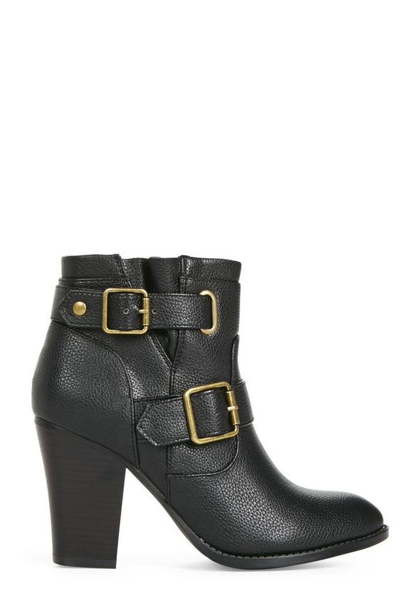 Ботильоны на каблуке JustFab Womens Harlette Black