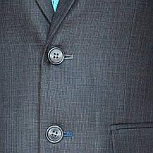 """Школьный костюм для мальчика 128-176 рост """"Бакалавр"""" серый в клетку, фото 2"""