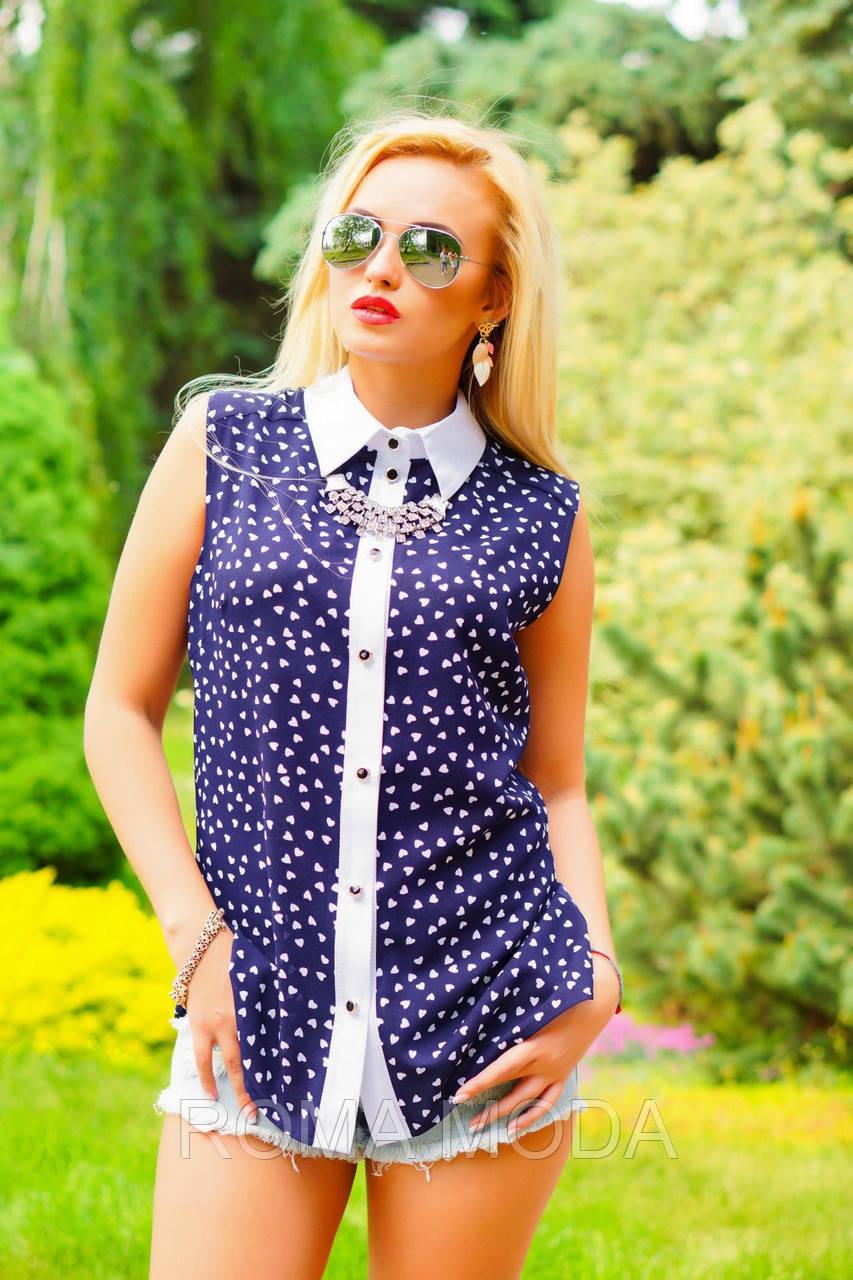 Блуза женская с сердечками в 2х цветах SV 0920-22