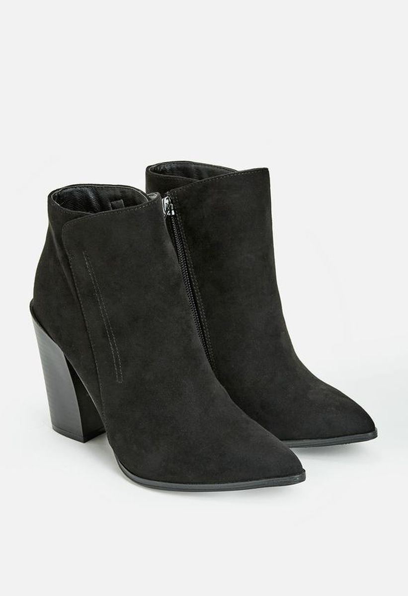 Ботильоны на каблуке JustFab Womens Jaleesa Black