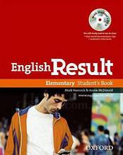 English Result Elementary Student's Book with DVD / Учебник с диском