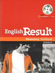 English Result Elementary Workbook with answer key booklet and MultiROM / Рабочая тетрадь с диском