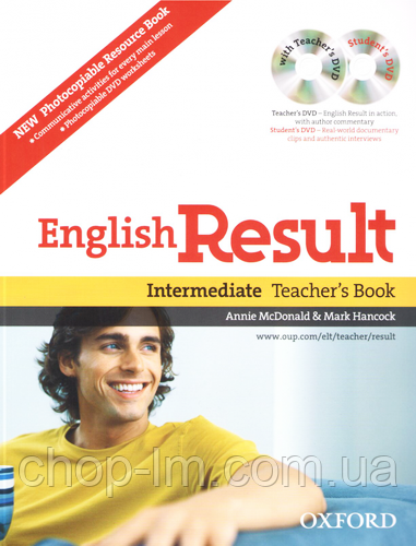 English Result Intermediate Teacher's Resource Pack with DVD and Photocopiable Materials Book / Книга учителя