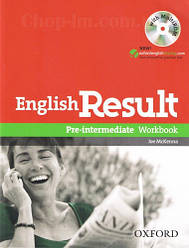 English Result Pre-Intermediate Workbook with answer key booklet and MultiROM  / Рабочая тетрадь с диском