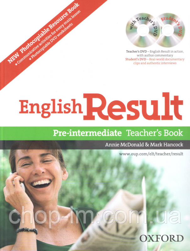 English Result Pre-Intermediate Teacher's Resource Pack with DVD and Photocopiable Materials Book / Книга учит