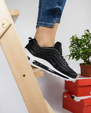 Женские кроссовки в стиле Nike Air Max 97 Ultra Swarovski Black (36, 38, 39, 40 размеры), фото 2