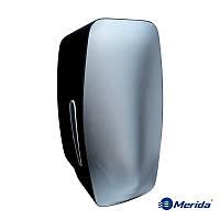 Дозатор мыла-пены картриджный Merida Mercury (нержавейка+чёрный ABS пластик), Англия