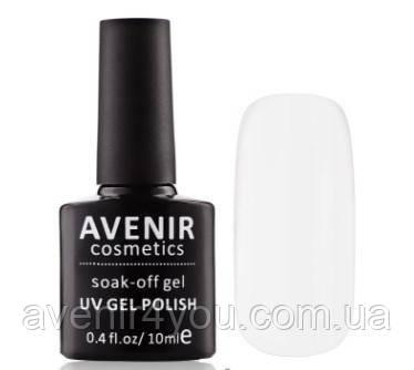 Гель-лак AVENIR Cosmetics №1. Белая эмаль френч