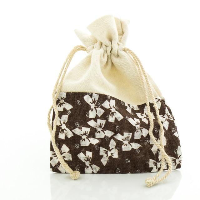 Подарочный мешочек коричневого цвета