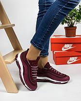Женские кроссовки в стиле Nike Air Max 97 Bordeaux (36, 37, 38, 39, 40, 41 размеры), фото 3