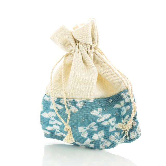 Подарочный мешочек голубого цвета