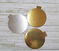Подложка круглая метализированная с ушком, диаметр 90 мм