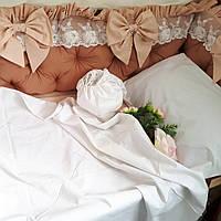 Бортики на 3 стороны + комплект постельного, фото 1