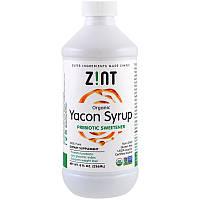 Пребиотический натуральный заменитель сахара ZINT, органический сироп из якона 236 мл, фото 1